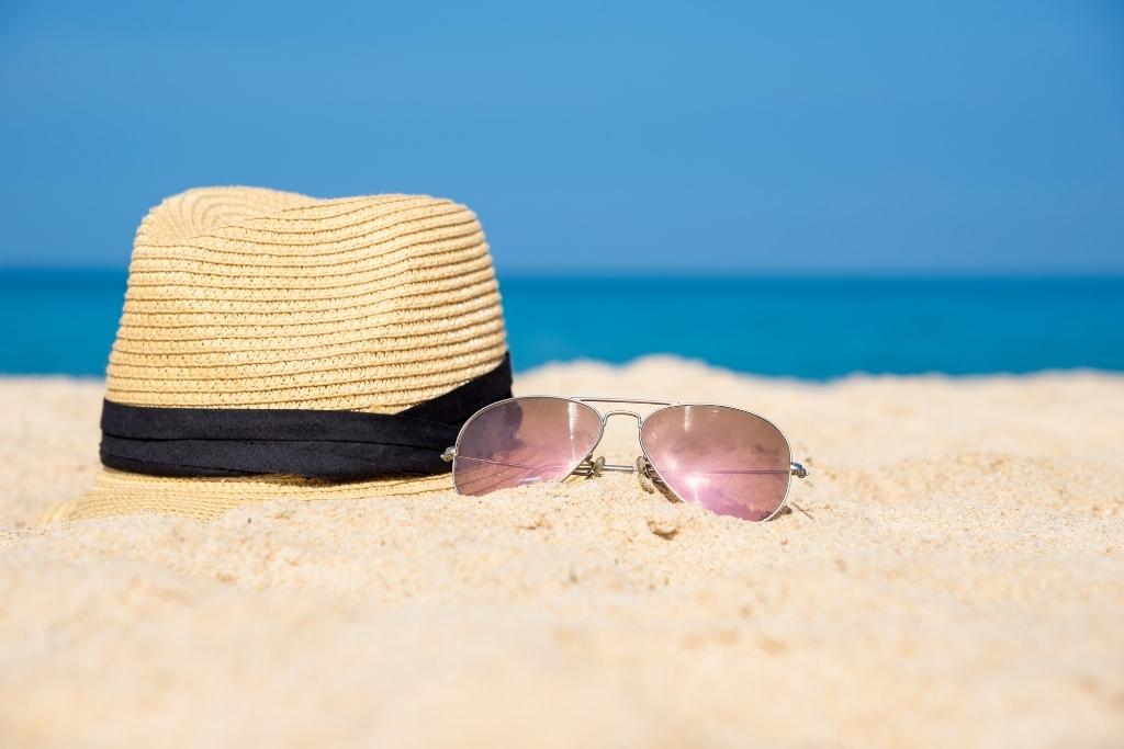 Beach hat and shades
