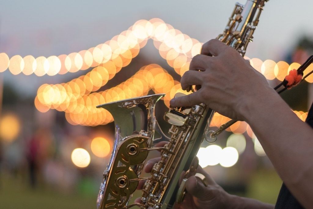 saxophone played outside
