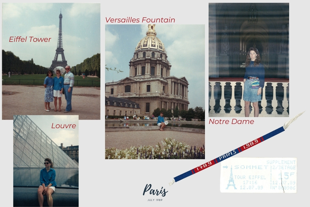 Photos from my Paris Trip in July 1989