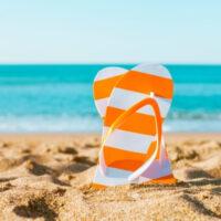 flipflops on the beach