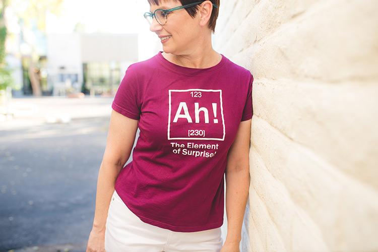 Andi in Ah T-shirt