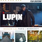collage of lupin film locations in paris