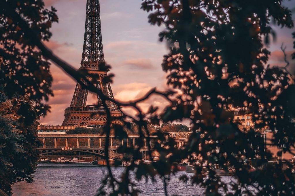Eiffel Tower on a summer evening