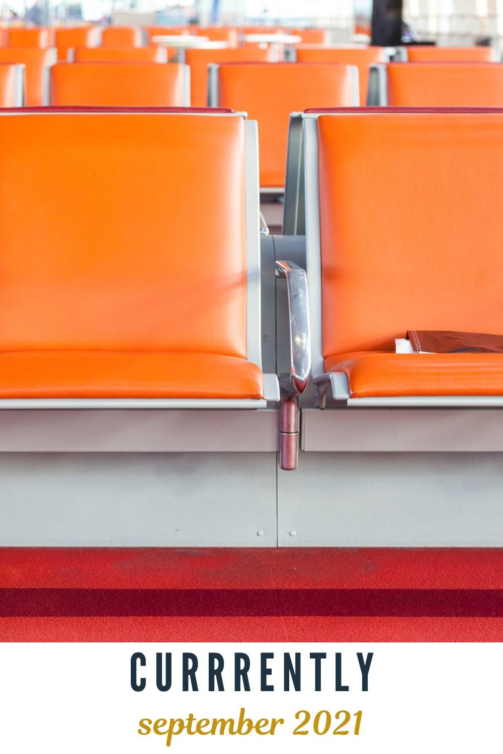 orange chairs in airport