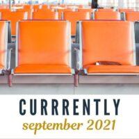 orange airport chairs