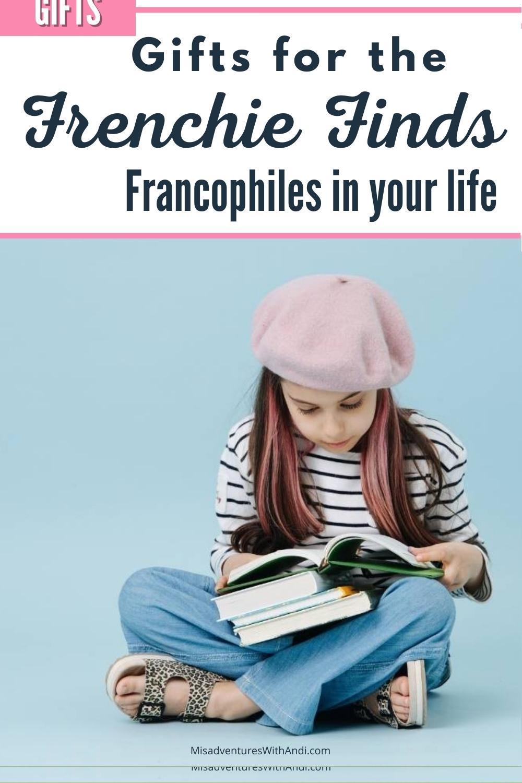 girl in beret reading book
