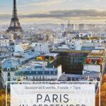 paris scene with eiffel tower