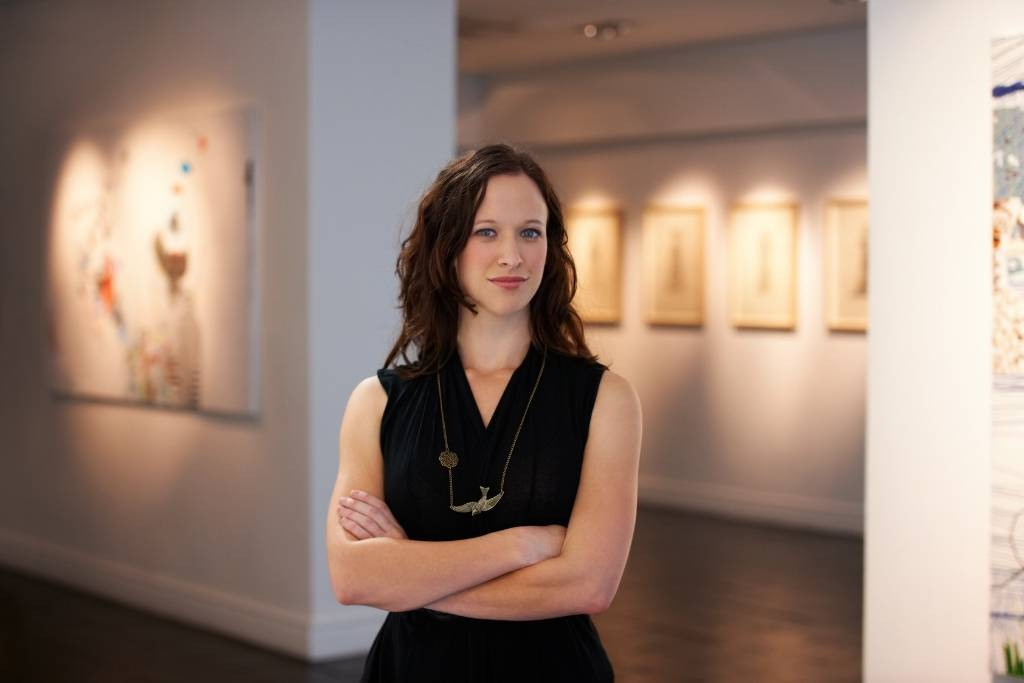 women in gallery