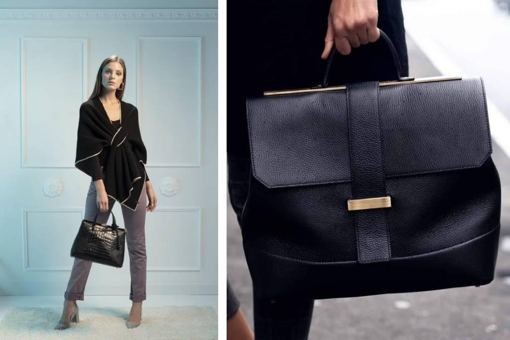 Top handle bag in black from Mirta